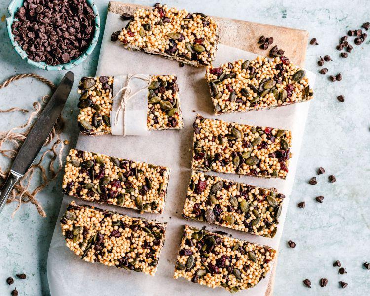 puffed quinoa bars