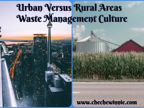 Urban Versus Rural Areas Waste Management Culture