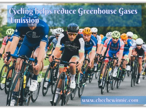 Cycling helps reduce Greenhouse Gases Emission