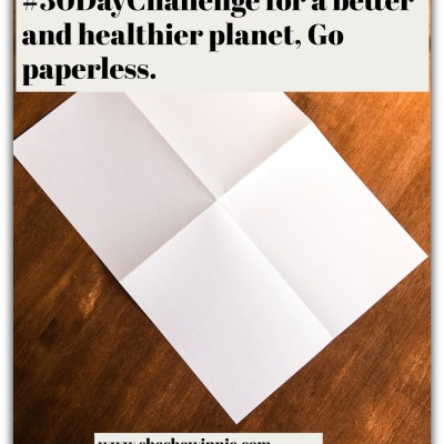 #30DayChallengefor a better and healthier planet, Go paperless.