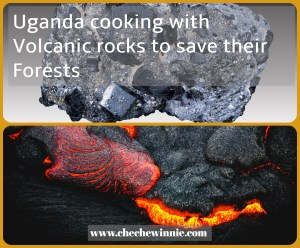Uganda cooking with Volcanic rocks to save their Forests