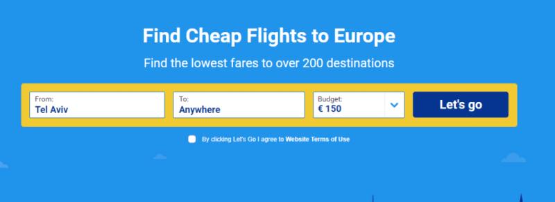 למצוא טיסות זולות עם ריינאייר