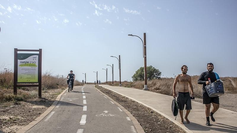 שבילי אופנים בחיפה פארק שקמונה