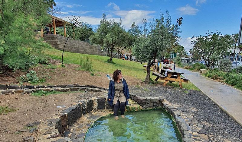 בריכת מים חמים בחמת טבריה