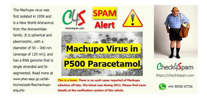 Image result for paracetamol machupo virus
