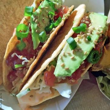 Ahi Poke Crispy Tacos at Gott's Roadside