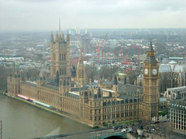 The view from the London Eye when it is not raining - London, England