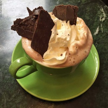 Specialty hot chocolate at Chocolate Theatre Cafe Bar - Windsor, England