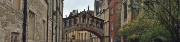 Bridge of Sighs at Hertford College - Oxford, England