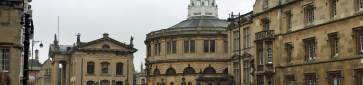 Clarendon Building and Sheldonian Theatre on Broad Street - Oxford, England