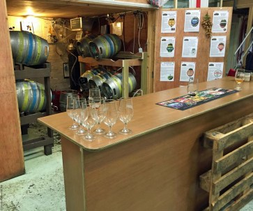 Tasting area at Windsor and Eton Brewery - Windsor, England