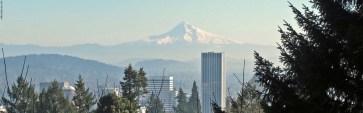 Mount Hood and Portland's Skyline - Portland, Oregon