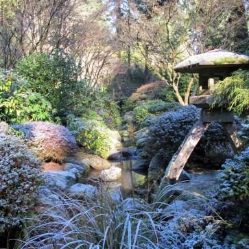 Portland Japanese Garden in winter - Portland, Oregon