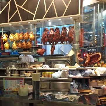 Meat hanging in Hay Hay Kitchen - Wan Chai, Hong Kong, China