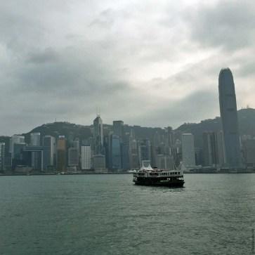 Sailing over Victoria Harbour towards Hong Kong Island - Hong Kong, China