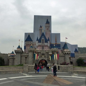 Sleeping Beauty Castle (Top portion of the Castle was going through renovations when this photo was taken) - Hong Kong Disneyland, Hong Kong, China