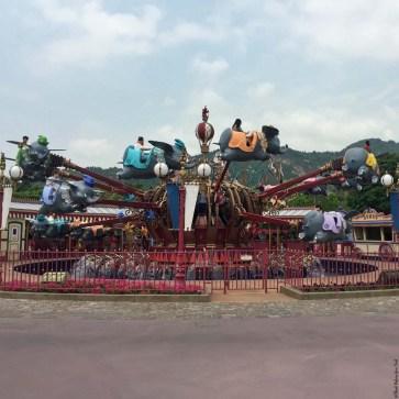 Dumbo the Flying Elephant ride in Fantasyland - Hong Kong Disneyland, Hong Kong, China