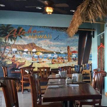 Mural inside 808 Grindz Cafe - Kailua-Kona, HI