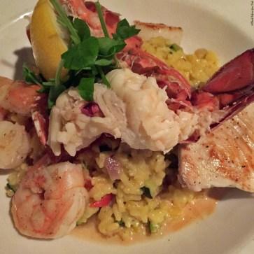 Pacific Island Seafood Risotto at Cafe Pesto - Kawaihae, HI