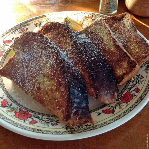 French Toast made with homemade Luau Bread at The Coffee Shack - Hōnaunau, HI