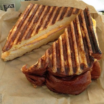 Breakfast sandwich at Green Flash Coffee - Kailua-Kona, HI