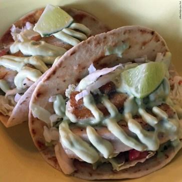Island Style Fresh Fish Tacos at Kohala Burger and Taco - Kawaihae, HI