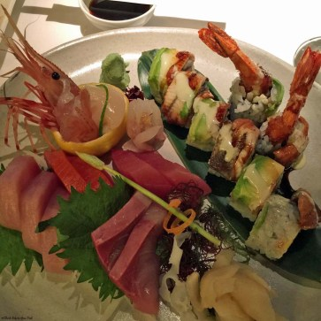 Sushi and sashimi at Blue Water Cafe in Yaletown - Vancouver, British Columbia, Canada
