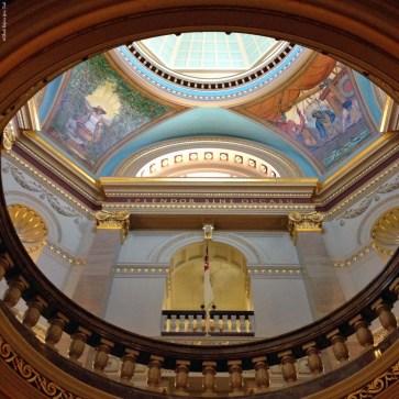 BC Legislature rotunda murals - Victoria, British Columbia, Canada