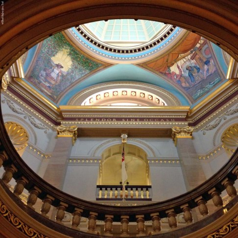 BC Legislature rotunda murals - Victoria, British Columbia, Canada