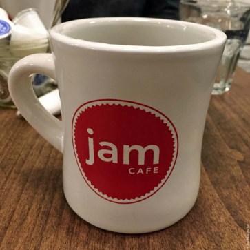 Coffee mug at Jam Cafe - Vancouver, British Columbia, Canada