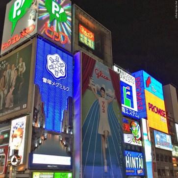 Dotonbori billboards, including the Glico Running Man - Osaka, Japan