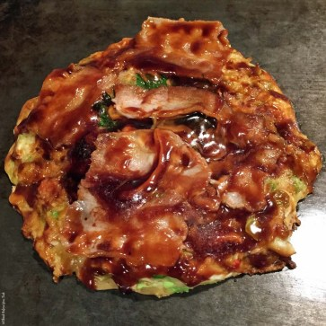 Okonomiyaki at Kiji - Osaka, Japan