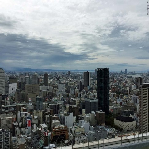 View of Osaka from the top of the Umeda Sky Building - Osaka, Japan