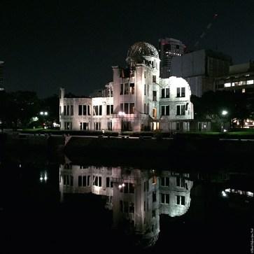 A-Bomb Dome at night - Hiroshima, Japan