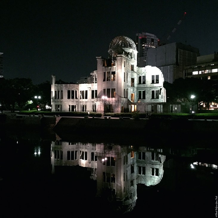 A-Bomb Dome at night - Hiroshima, Japan