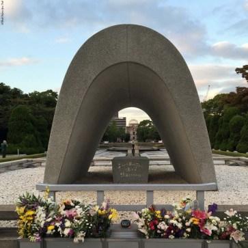 Cenotaph, memorial for A-bomb victims - Hiroshima, Japan