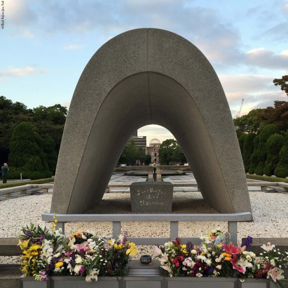 Cenotaph, memorial for A-bomb victims - Hiroshima, Japan