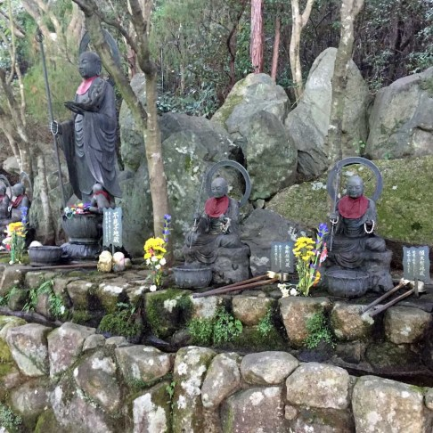Religious statues on the grounds of Daishoin Temple - Miyajima Island, Itsukushima, Japan