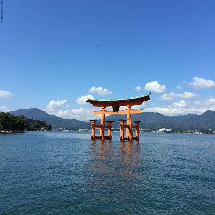 O-Torii Gate during high tide - Miyajima Island, Itsukushima, Japan