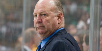 Jan 20, 2015; Dallas, TX, USA; Boston Bruins head coach Claude Julien during the game against the Dallas Stars at the American Airlines Center. The Bruins defeated the Stars 3-1. Mandatory Credit: Jerome Miron-USA TODAY Sports