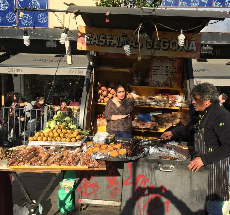 street vendors in Madrid Spain