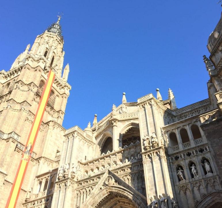 tall tower in in Toledo Spain
