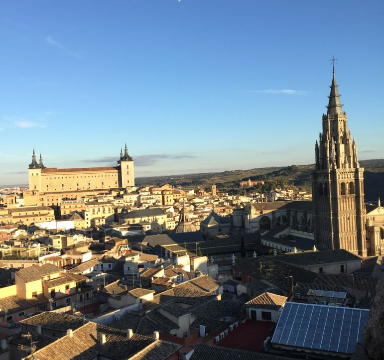 the cathedral and Alcazar in Toledo Spain