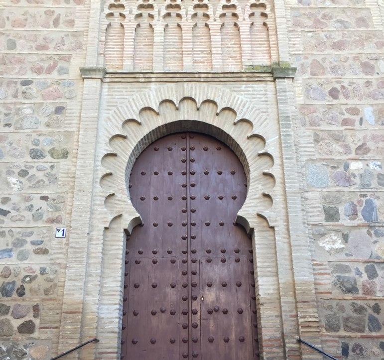 ancient doorway in Toledo Spain