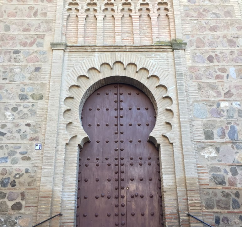 ancient doorway in Toledo Spain