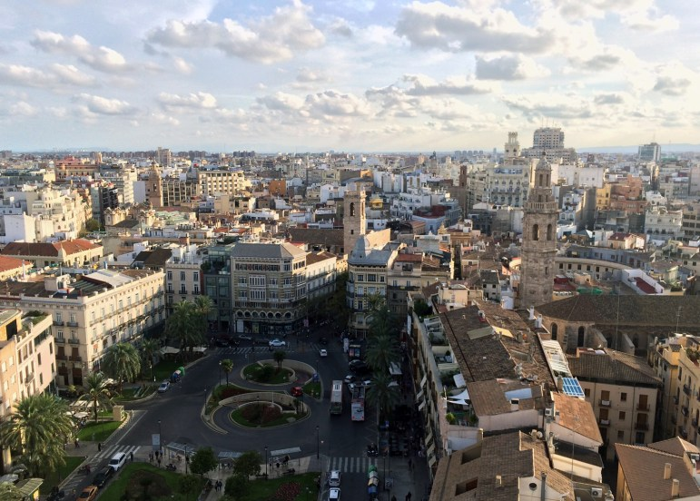 A view of Valencia from the Miguelete tower