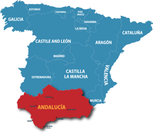 the Andalucía region of Spain