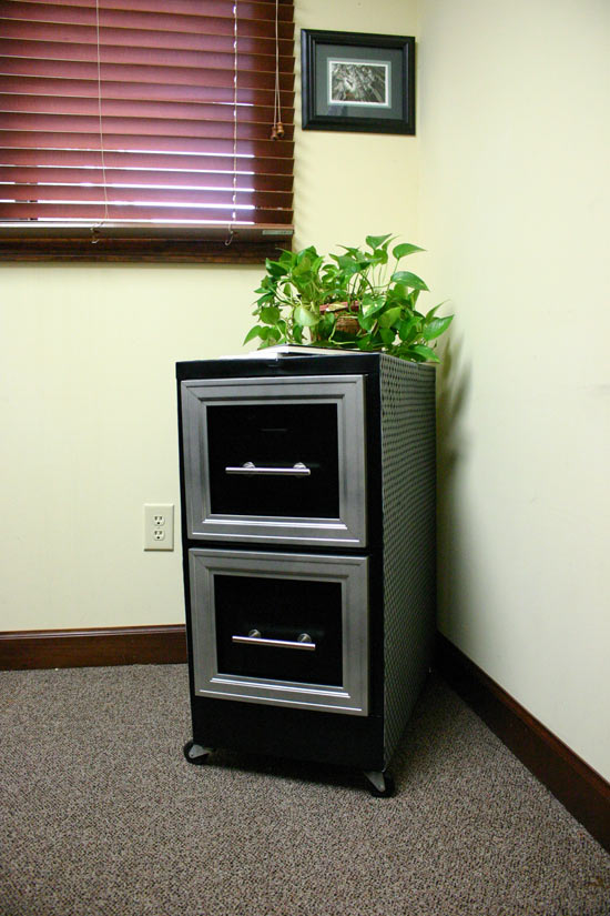 Diamond Plate File Cabinet Makeover  Checking In With Chelsea