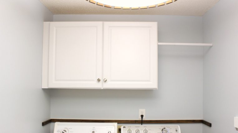 Installing Wall Cabinets In Laundry Checking In With Chelsea