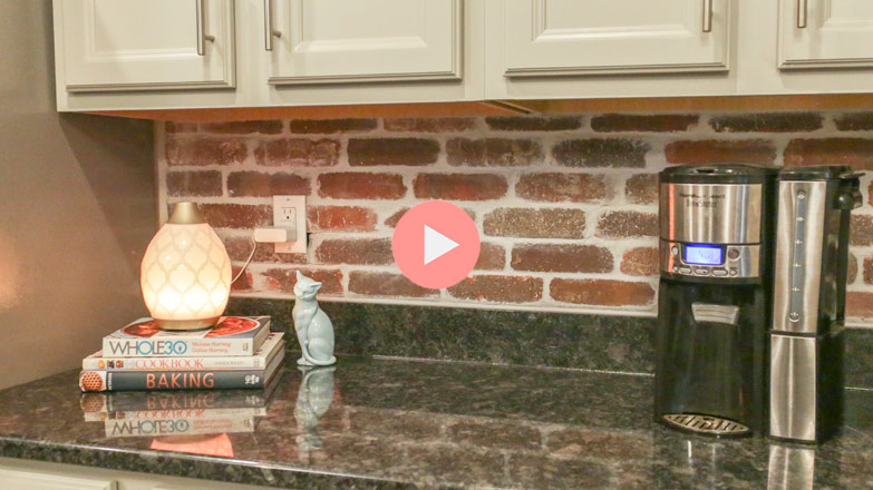 how to add a brick backsplash